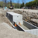 Large precast concrete water reservoir Canada