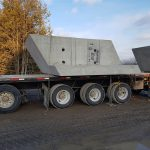 All-skew precast concrete box culvert delivered to New Scotland Line, Chatham Kent, Ontario