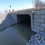 Precast Concrete All Skew Culvert installed at Mollard Line
