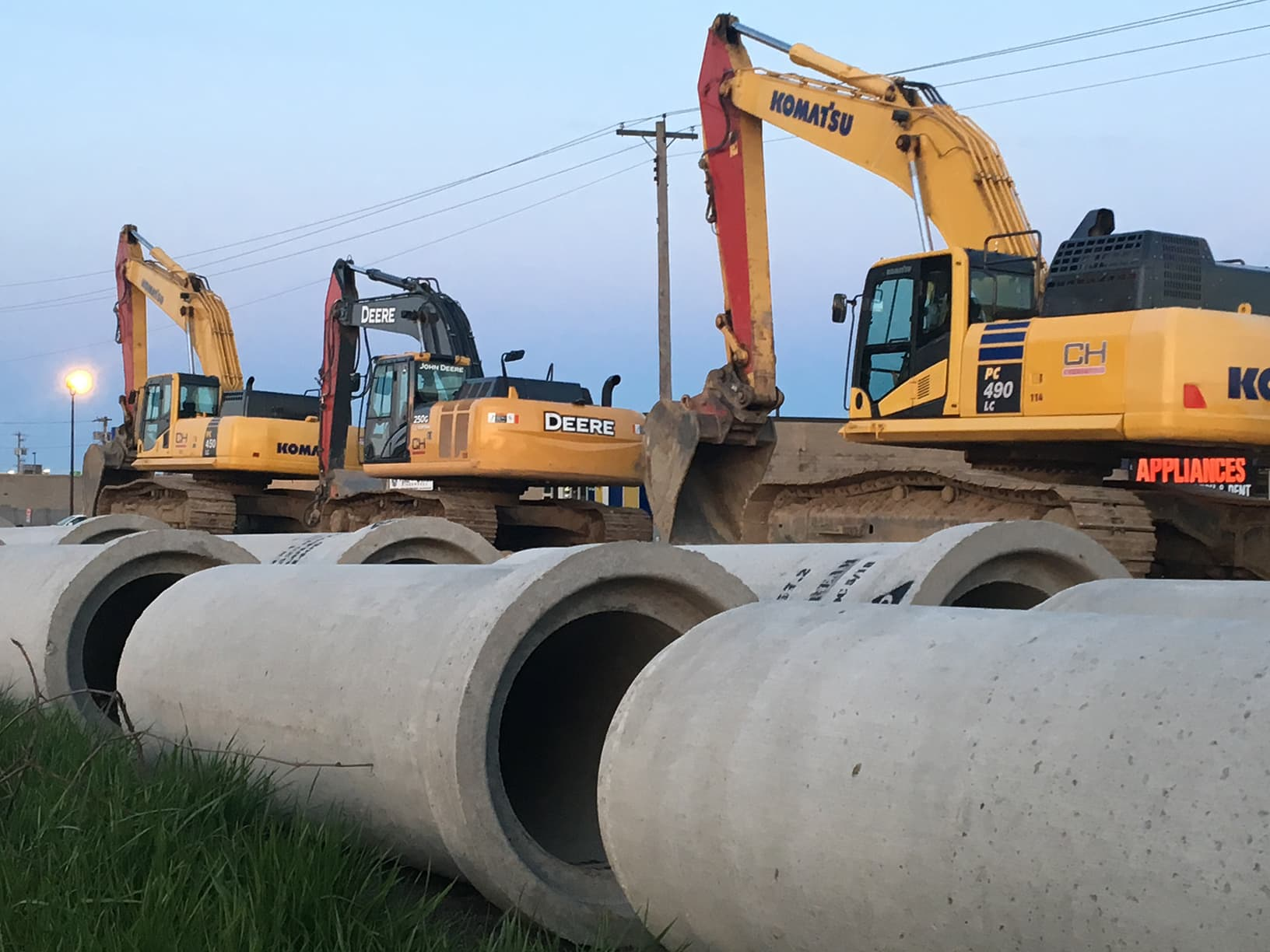 Sewer upgrades, road widening, gas services