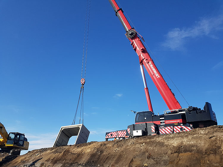 Coldstream Concrete delivers box culvert to Chatham-Kent