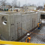 sarnia ontario oily and storm water sump pit heavy precast concrete